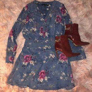 Floral White House Black Market Dress
